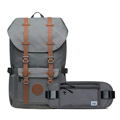 KAUKKO Rucksack Damen Herren Studenten Laptop Backpack für 15