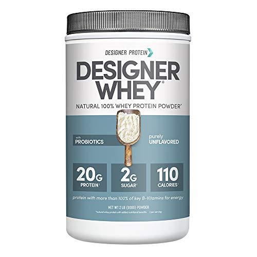 Designer Whey Premium Natural 100% Whey Protein, Purely Unflavored, 2 Pound