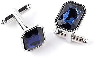 Fashion Blue Diamond Shirt Metal Cufflinks Men
