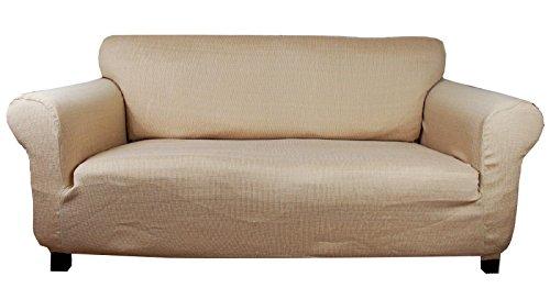 houselinen.co.uk Stretchhusse (beige-Creme) Hussen für Sofa 2 sitzer - Sofahusse