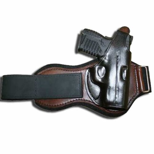 Right Hand - Tucker & Byrd Leather Ankle Holster - S&W M&P Shield - Black