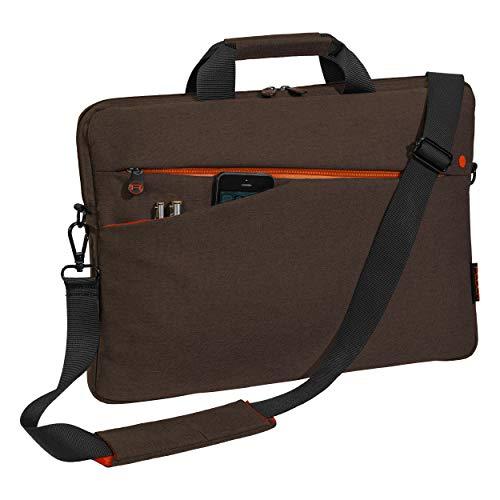 Pedea Laptoptasche Fashion Notebook-Tasche bis 17,3 Zoll (43,9 cm) Umhängetasche mit Schultergurt, braun