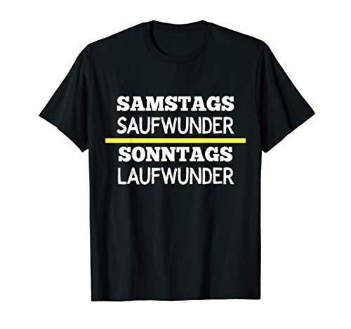 Lustiges Kreisliga T-Shirt Samstags Saufwunder Laufwunder