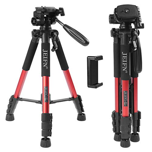 """ZoMei Q111 58 Zoll Panorama Kamera Stativ leicht mit 1/4\"""" Schnellwechselplatte für Digitale DSLR usw(rot)"""