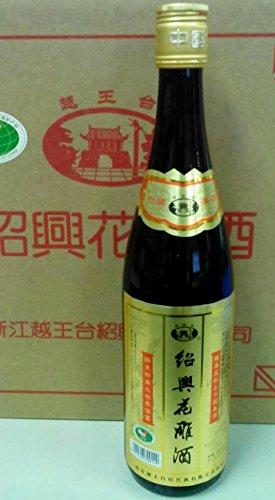 越王台 紹興花彫酒(金ラベル) 600ml 16度、3年ブレンド!マイルドで飽きのこない飲みやすさが魅力です