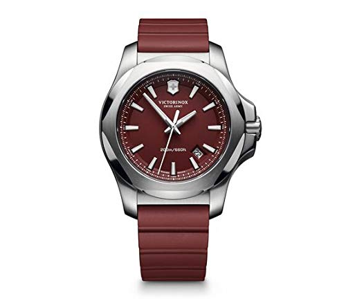 Victorinox Men's I.N.O.X. Swiss Made Analog Quartz Stainless Steel/Rubber Watch 241719.1