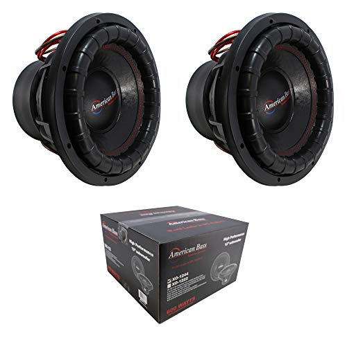 "2 x 12 Subwoofer 6000W 3"" 4 Ohm DVC Pro Car Audio Bass American Bass XFL-12-D4"