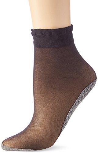 Nur Die Damen Söckchen Baumwollsohle Socken, 20 DEN, Schwarz (Schwarz 94), 39/42