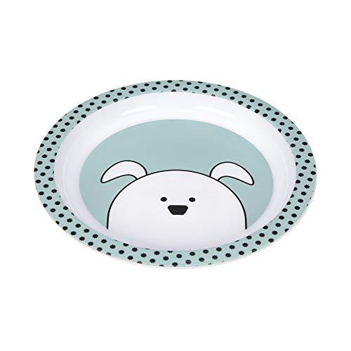 LÄSSIG Kinder Teller ohne Melamin, BPA-frei, für Spülmaschine und Mikrowelle/Plate PP Little Chums Dog