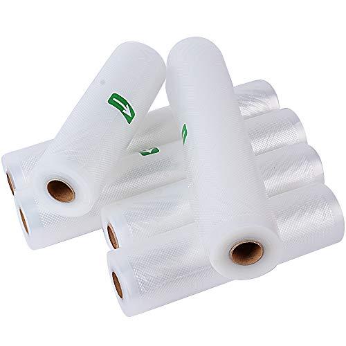 (20 * 500cm + 28 * 500cm) 6 Rollen Vakuumbeutel Vakuumschlauch Folienbeutel Vakuumier Beutel Vakuumrollen Folienrolle Vakuumfolie