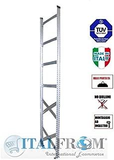 SPALLA SPALLE H200x60 cm,SCAFFALI,SCAFFALATURE,MAGAZZINO,SCAFFALATURA METALLICA INDUSTRIALI ZINCATI PORTATA 1500 KG MADE IN ITALY