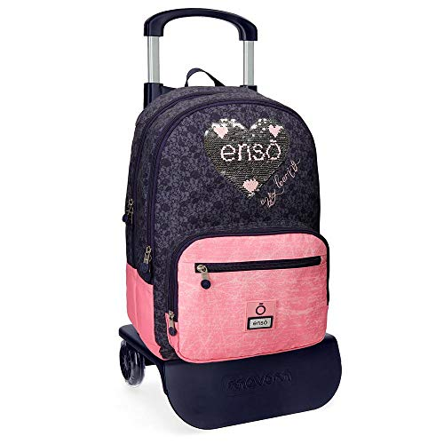 Enso Learn Mochila Doble Compartimento con Carro Multicolor 32x44x17 cms Poliéster 23.94L