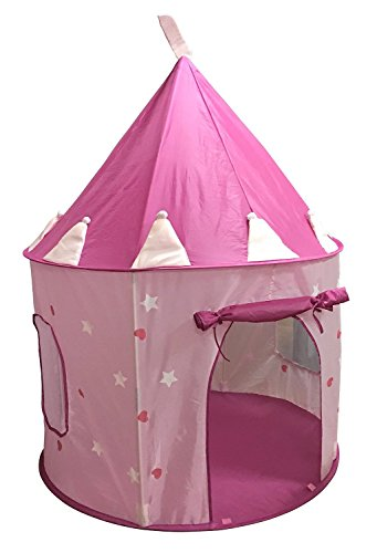 SueSport Girls Princess Castle Play Tent, Pink
