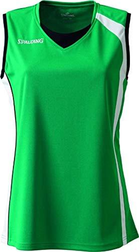 Spalding 4her Tank Top Camiseta De Equipaciones Manga Corta, Mujer, Verde, L