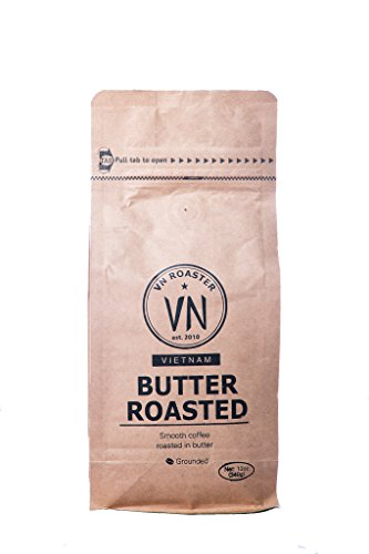 Authentic Vietnamese Coffee, VN Roaster Butter Roasted Coffee, 12 Ounce