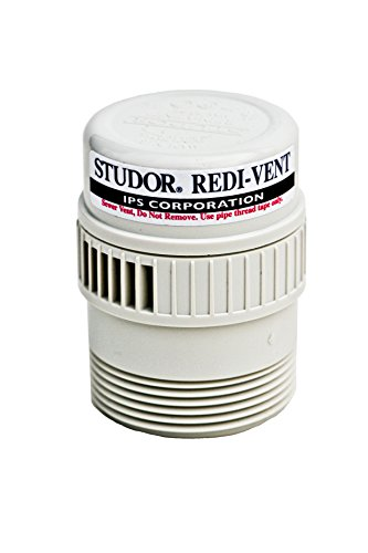 Studor 20349 REDI-Vent Air Admittance Valve 1-1//2 or 2 ABS Adapter 5 White