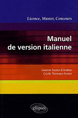 Manuel de version italienne : licence, master, concours