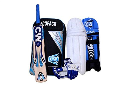 CW Smasher Cricket Batting Set Blau mit Kashmir Willow Bat für Jungen (7-14+ und älter) Jugend Teen Senior Boys (Senior)…