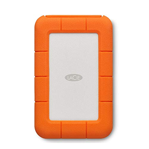 LaCie Rugged USB-C, 2 TB, Hard Disk Esterno Portatile, USB-C, Unità Shuttle Resistente a Cadute, per Mac, PC Desktop, Workstation e PC Portatili, 2 anni di servizi Rescue (STFR2000800)