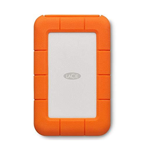 LaCie Rugged USB-C, 4 TB, Unità Disco Esterna Portatile, USB-C, Unità Shuttle Resistente a Cadute, per Mac, PC Desktop, Workstation e PC Portatili, 2 Anni di Servizi Rescue (STFR4000800)