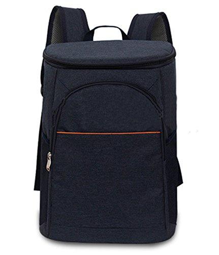 Lemongirl - Zaino da escursionismo con borsa termica isolata, zaino grande da campeggio, unisex, da viaggio, per picnic, pranzo, Uomo, WJ129-DeepBlue, DeepBlue, Taglia unica