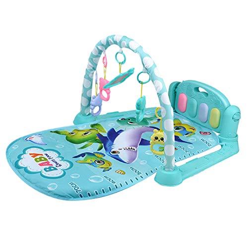 Alfombrilla de juegos musical para bebés, Kick Play Piano Gimnasio, manta de juegos para bebés, juguetes para bebés, adecuado para niños pequeños de 0 a 12 meses, regalo para recién nacidos
