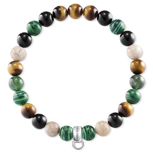 Thomas Sabo Damen-Charm-Armband 925 Sterlingsilber Jasper X0217-947-7-L17.5