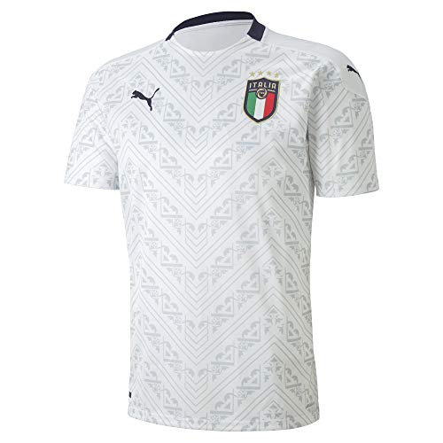 PUMA FIGC Away Shirt Replica Maillot, Hombre, Puma White-Peacoat, S