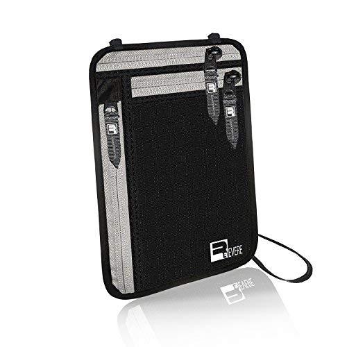 RFID portafogli da collo / Portafogli da viaggio / Portadocumenti da collo / Custodie per passaporto. Proteggi Cintura Nascosta Fermasoldi Borse organizer Protettive Caso pacchetto di Denero