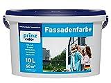 prinzcolor Fassadenfarbe Aussenfarbe Fassadenwetterschutz weiß Weiß 10l