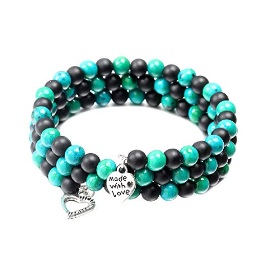xiamenchangketongmaoyi Gemstone Bracelet Beaded Bracelet Stylish Bracelet Turquoise Bracelet Multilayer Bracelet Precious Bracelet Reiki Bracelet Yoga Beads Bracelet