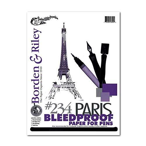 Borden & Riley #234 Paris Paper for Pens Pad, 11 x 14 Inches, 108 lb, 40 White Sheets, 1 Pad Each (234P111440)