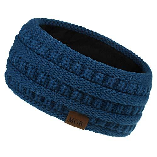 YueLove Womens Winter Ohrwärmer Stirnband - Warm Winter Cable Knit Stirnband für Frauen, Soft Stretchy Thick Fuzzy Head Wrap