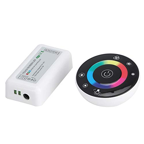 Ronde LED RGB Touch Controller Dimmer 7 toetsen HF-afstandsbediening 18A DC12-24V