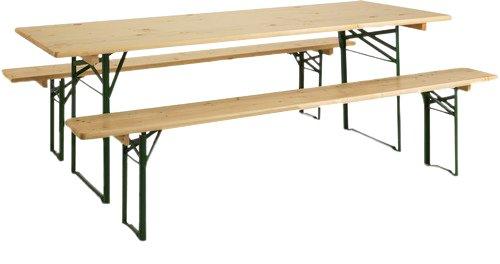 Burger 100546 Brasseurs Tables de Pique-Nique 219 x 79 x 14 cm