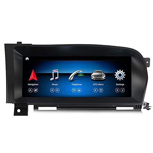 """WYZXR Android 10.25"""" Full Touch Screen Car GPS Radio for Mercedes Benz S Class W221 2006-2013 Built in Carplay Android Auto Support Navigation/CD DVD DSP Multimedia/BT SWC"""