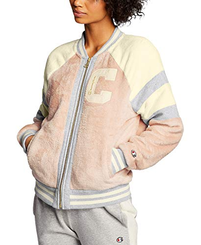 Champion LIFE Damen SUPER Fleece Faux FUR Jacket-Felt C Fleecejacke, Spiced Mandel Pink, Medium