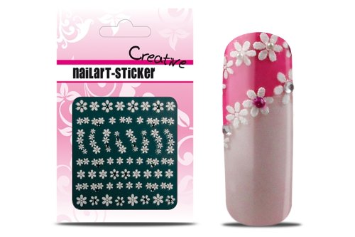ICP-Nailcare GmbH, Sticker French White Strassstein