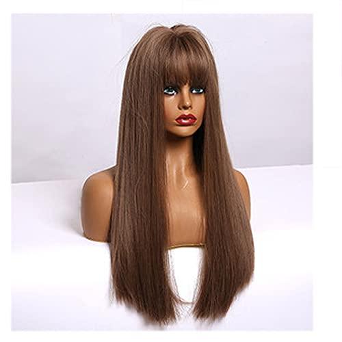 Cosplay Silver Gray Wig For Women Silk Straight Max 56% Tulsa Mall OFF Hai Long Natural
