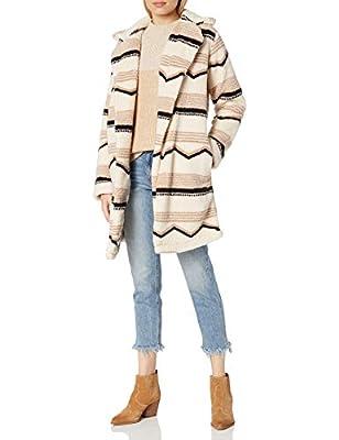 Billabong Women's Montreal Longline Fleece Jacket Beige Large/12