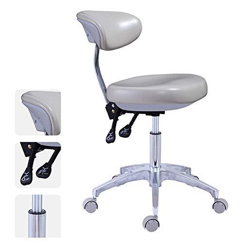 Worth having - Sillón médico dental médico dental, silla móvil ajustable de altura, PU Silla de cuero del dentista del asiento para el salón, el masaje, la fábrica, la tienda, la apática de carga: 550