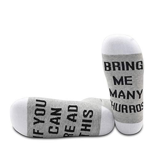 PYOUL 1 paar grappige sokken als je dit kunt lezen, breng me veel Churros Food Sokken Churro Lover Gift - - M