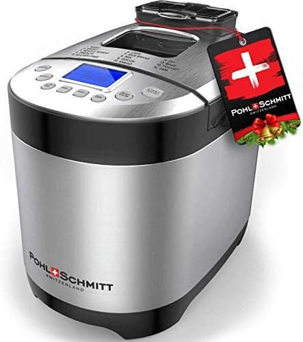 Pohl Schmitt Stainless Steel Bread Machine Bread Maker 2LB 17 in 1 14 Settings Incl Gluten Free product image