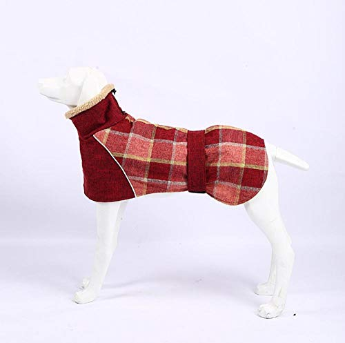 HundeschuheHund Winter Dobermann Weimaraner Kleiner Hund Warmer Mantel Mittlerer Großer Hund-Baumwolle und Leinen Plaid Warme Kleidung / Rot_XXXL