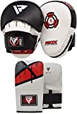 RDX Boxing Pads and Gloves Set | Hook and Jab Target Focus Mitts with Punching Gloves | Hand Pads...