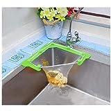 CaCaCook Triangle Tri-Holder Filter,Triangular Mesh Hanging Net Bag For Sink, Sink Strainer Bag sink net, Kitchen Leftovers Filter Basket Fine Mesh Bag, Kitchen Corner Sink Garbage Storage Rack Holder