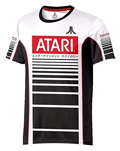 Atari - Racer Esports - Offiziell Herren Fußball T-Shirt - Weiß, S