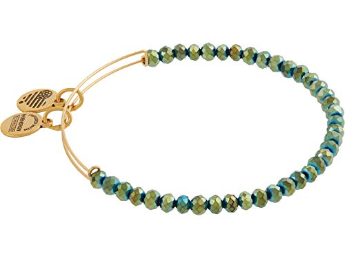 Alex and Ani Brilliance Bead Bangle Bracelet Emerald One Size