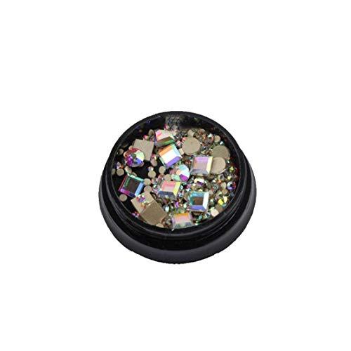 Bas doigt 1box Nail Art Kit strass cristal carré plat ongles Gems Diy Artisanat Manucure Beauté ongles Forets