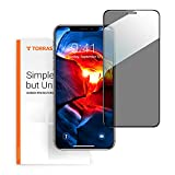 TORRAS Privacy iPhone 11 Screen Protector, iPhone XR Screen Protector 6.1'' (2 Pack) [10X Military Shockproof] [23° Real Privacy Film] for Apple